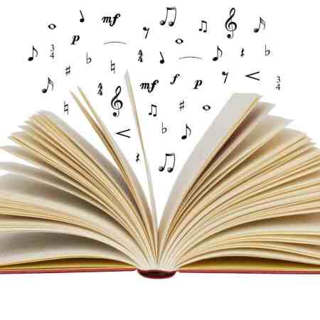 book with musical notes