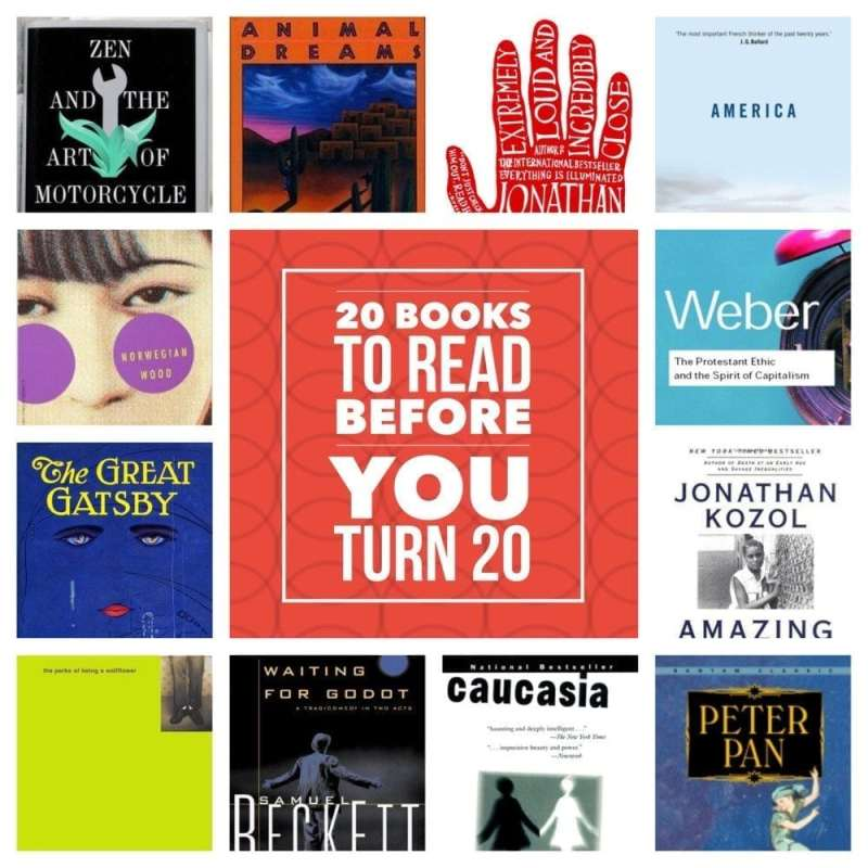 20 Books to Read Before You Turn 20