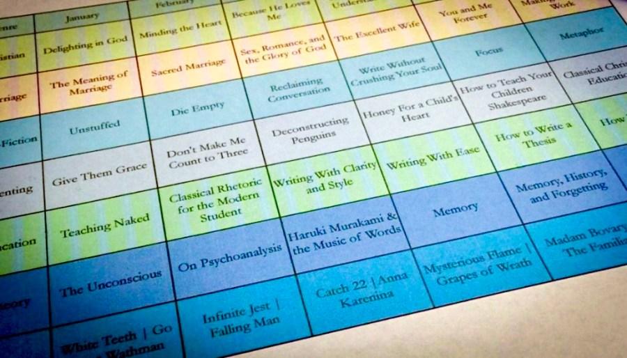 Super-Nerdy Book Reading Schedule