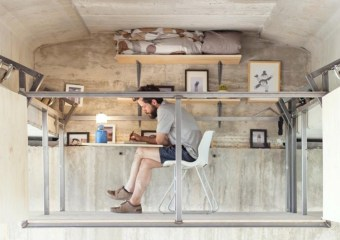 Designer Fernando Abellanas' hidden studio beneath a concrete bridge in Valencia