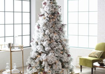 Selection of Artificial Pre-Lit Christmas Trees on Sale