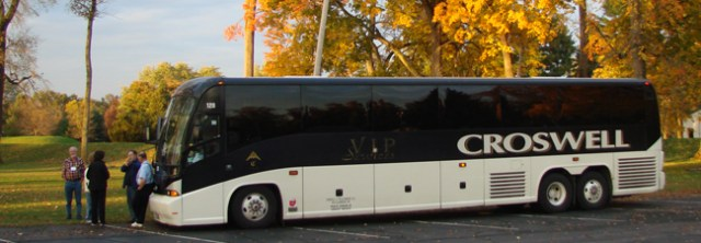 Tour Coach in Autumn Splendor
