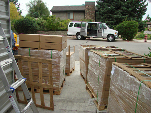 Pallets Waiting for Storage