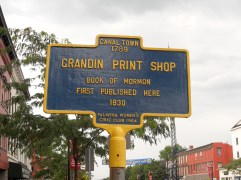 E. B. Grandin Print Shop Civic Plaque