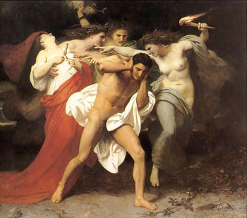 1862 William-Adolphe Bouguereau - The Remorse of Orestes or Orestes Pursued by the Furies