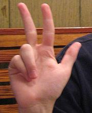 three finger salute