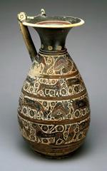 Olpe (wine pitcher), 6th century BCE