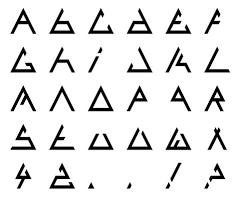 triangle font Bauhaus