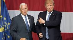 Mike Pence with Donald Trump