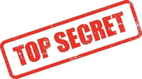 Top Secret Rubber Stamp Ink Imprint Icon (Transparent Background)