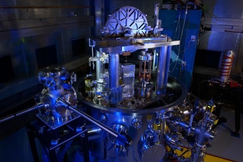 The NIST-4 Kibble balance. The instrument was used to calculate Planck's constant, an important step toward redefining the kilogram. (Jennifer Lauren Lee/NIST PML)