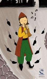 Bookosmia Pied Pipe fairytale rehash