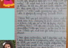 Letter to Astronaut Christina Koch by an 8 year old girl from India