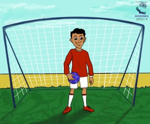 Sara reads Football dreams of a young kolkata kid