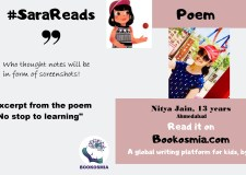 No stop to learning- Read poem with Sara