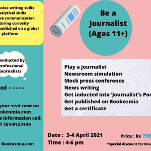 Learn Journalism Workshop for kids Bookosmia