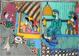 Madhubani Corona Art Bookosmia