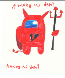 among us devil yoda story by kids bookosmia
