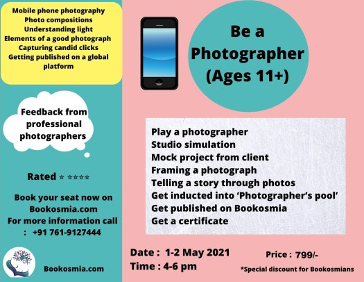 Learn Photography Workshop for kids Bookosmia