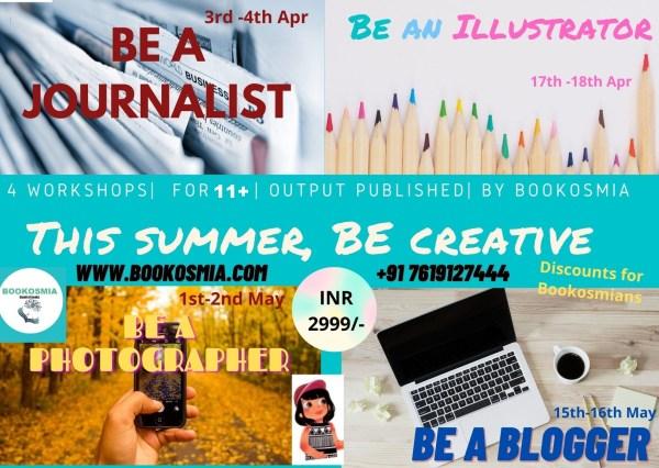 Summer Activites for kids Workshops by Bookosmia