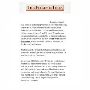 Economic Times talks about Bookosmia