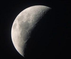 Astronomy - The moon's dark phase