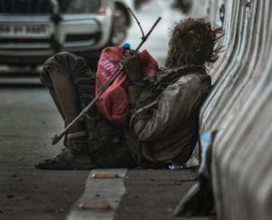 Kindness - Helping a homeless person