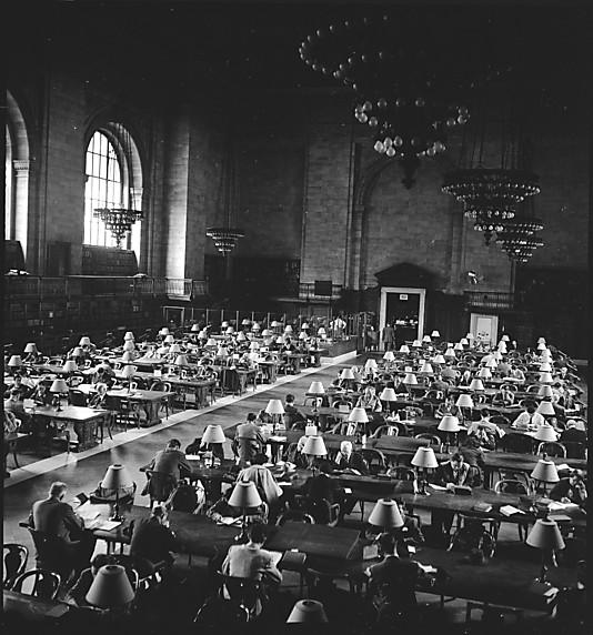 Walker Evans NYPL Reading Room 1