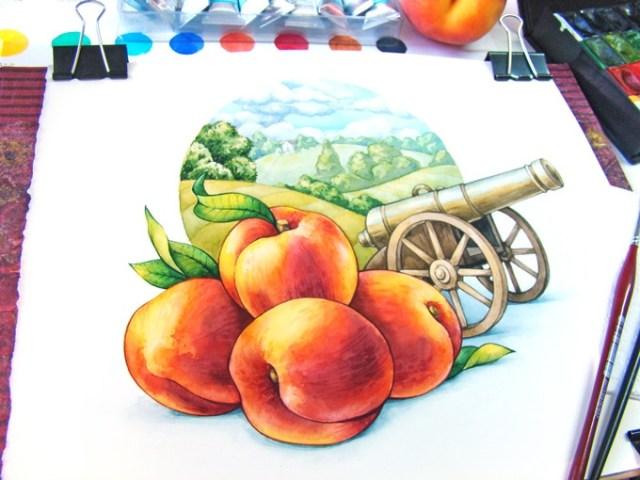 novel tea tins war and peach