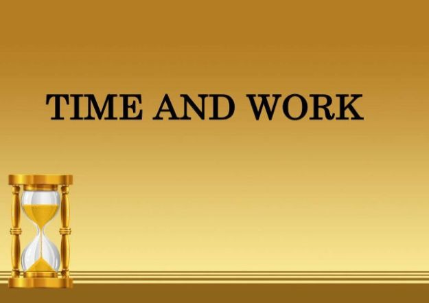 Time and Work, Pipes and Cisterns Exercise Notes 2021 Download Study Materials BOOK PDF