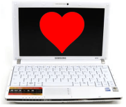 Computer with Heart on it