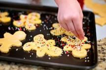 Christmas Cookies on Baking Sheet Free Use