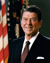 Ronald Reagan & Flag Free Use