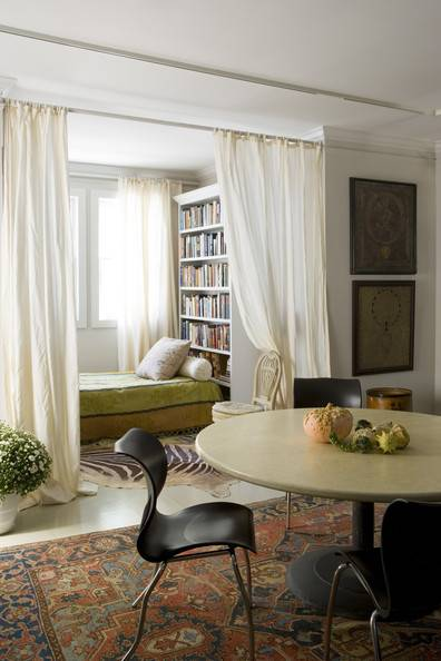 reading nook with curtains