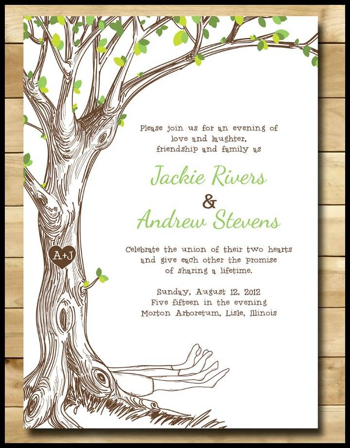 The Giving Tree Wedding Invitations