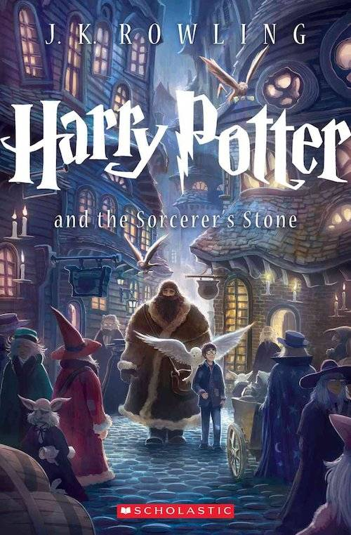 Image result for harry potter and the sorcerer's stone book cover