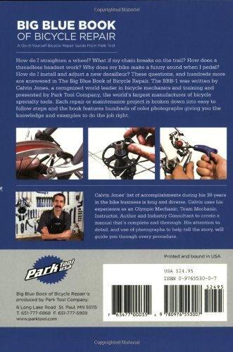 Park Tool BBB-4 Big Blue Book of Vélo Réparation 4th Edition