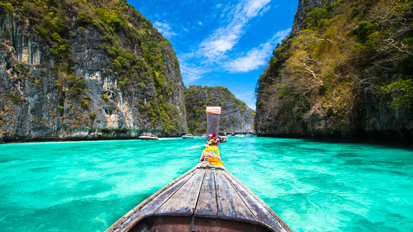 boat ride in Thailand