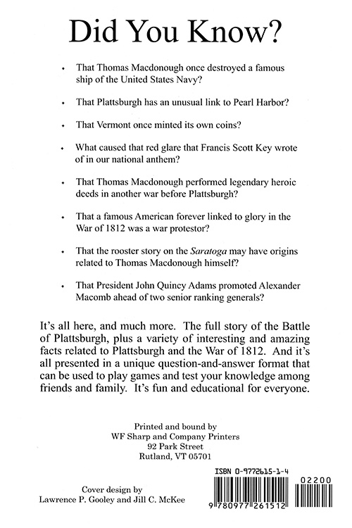 The Battle Of Plattsburgh Question Answer Book Books By Bloated
