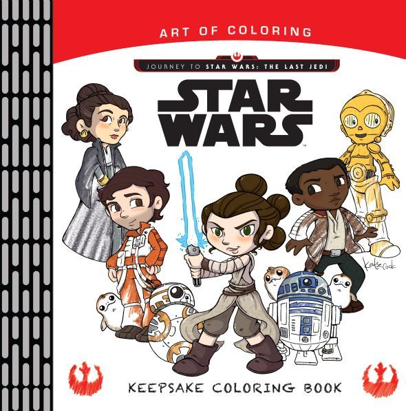 Keepsake Coloring Book Journey To Star Wars The Last Jedi By Katie Cook
