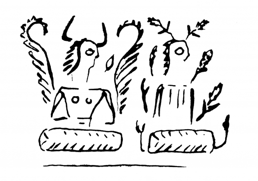 Fig.7–Drawing of modern impression of a cylinder seal.