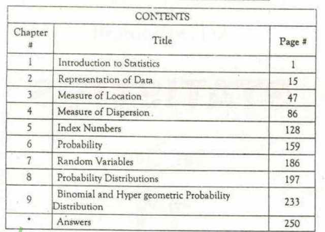 Statistics-Book-Inter-Part-1-English-Medium-contents