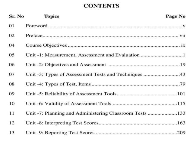 AIOU-B.Ed-Code-8602-Book-contents-page