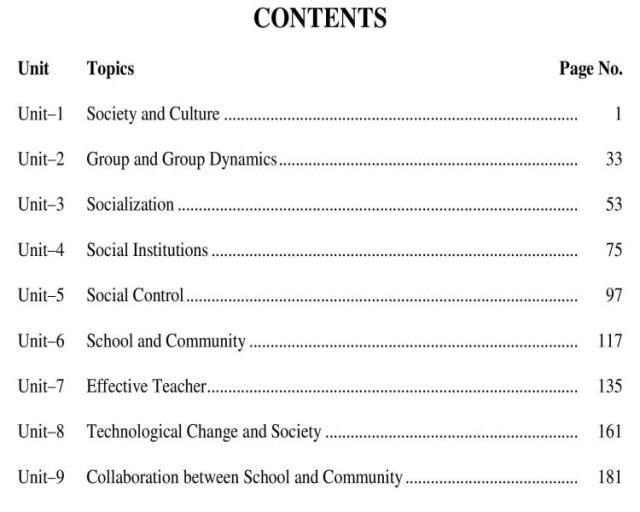 AIOU-B.Ed-Code-8606-Book-contents-page