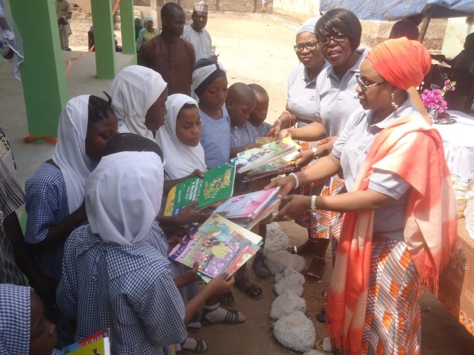 Book donation at the Adeta Primary School, Kwara State, Nigeria