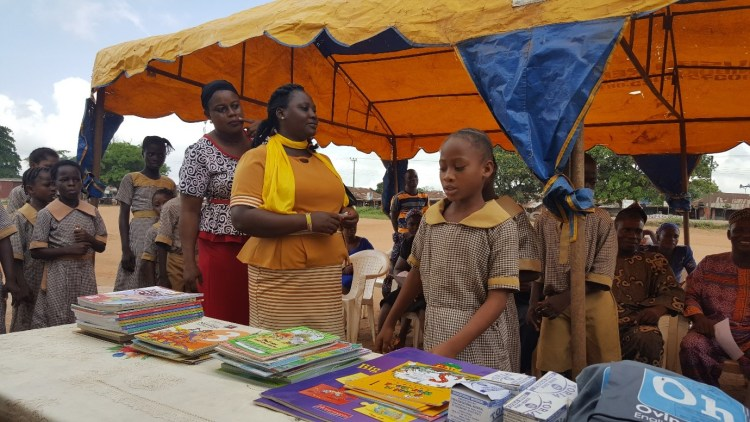 Book donation at the African Church Central School, Ogun State, Nigeria 2
