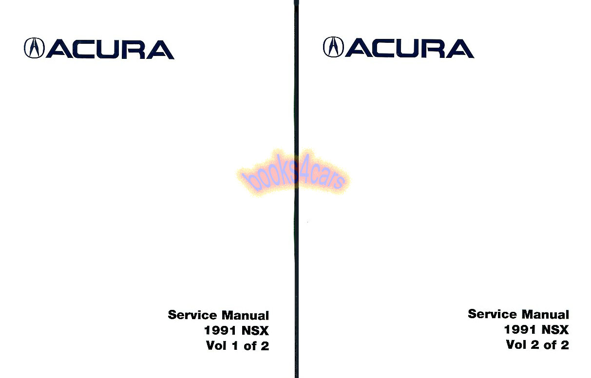 Acura Nsx Manuals At Books4cars