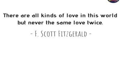 F. SCOTT FITZGERALD'S QUOTE ABOUT LOVE