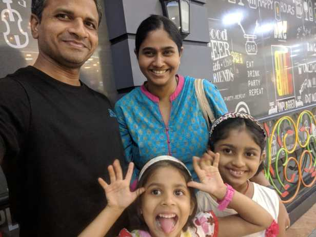 Dr. Apoorva from Nagpur with her family