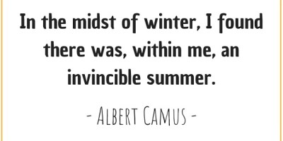 Quote about winter and summer by Albert Camus